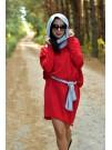 Рокля Доротея - цвят червен