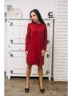 Памучна рокля Адриана - цвят бордо