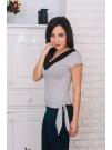Елегантна блуза на точки с връзки и дантела