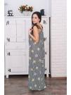 Дълга рокля Диана на жълти цветя