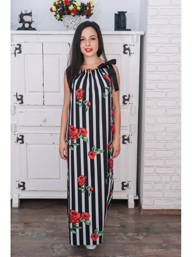 Дълга рокля Диана с рози