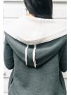 Дамски суитшърт - каракул в сиво