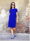 Рокля Кристина в кралско синьо