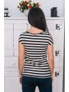 Блуза Надя - черно - бяло райе