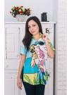 Дамска риза с комикс принт