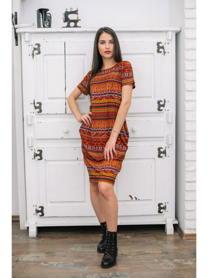 Свободна лятна рокля стил Мексико