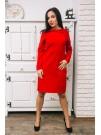 Рокля с яка и копченца - Силвия в червено