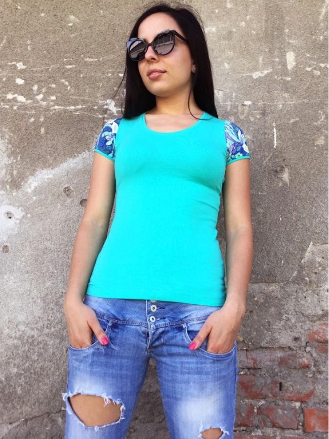 Блуза Виолета в цвят мента